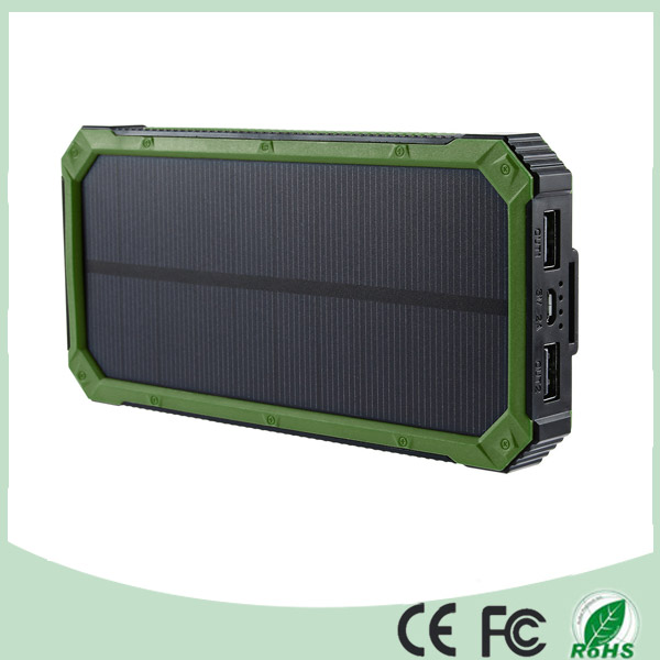 Portable Solar Power Bank 12000mAh for Cellphone iPad Camera (SC-3688-A)