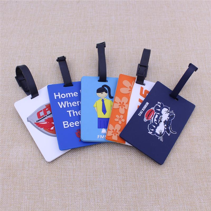 Bulk High Quality Lovely Design Travel Soft PVC Luggage Tag with Logo