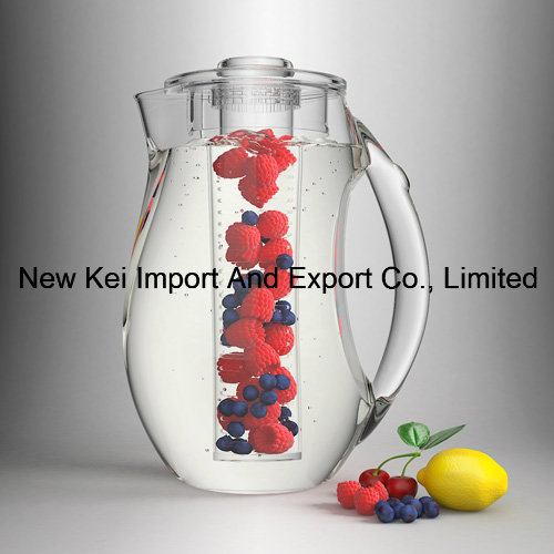2.5L Iced Fruit Infusion Pitcher with Ice Core Tube