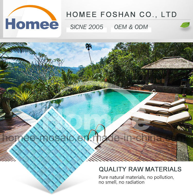 Hot Sale Square Shape Outdoor Blue Color Pool Flooring Mosaic