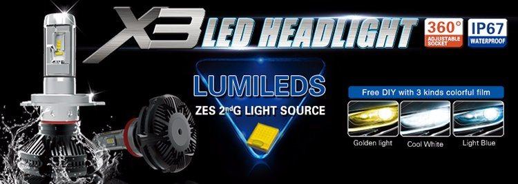 Lmusonu X3 Car Headlight 9005 LED Headlights LED Auto Lamp 25W 6000lm Auto Accessory