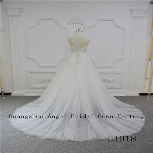 Sexy Strapless with High Quality Wedding Dress