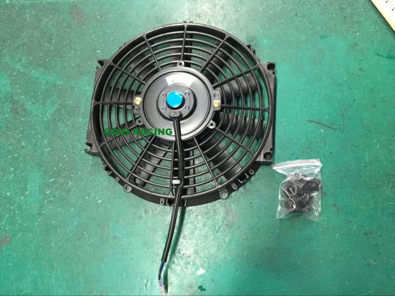 10inch 12V Universal Round Black Electric Car Radiator Cooling Fan