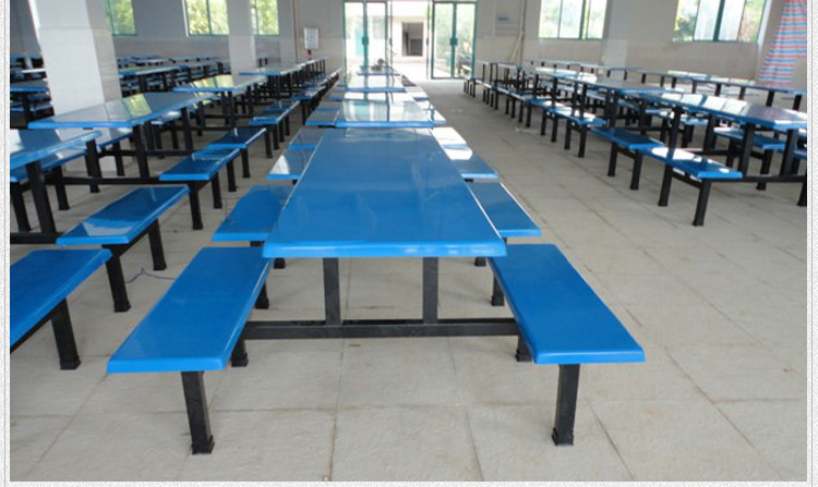 Glassfiber Dining Table Set School Dining Hall Furniture