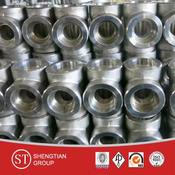 Forged ANSI B16.11 A105 Sw 3000# Reducing Pipe Fitting Tee