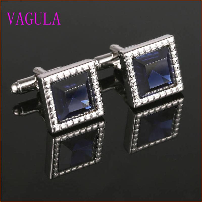 VAGULA Gemelos Men French Shirt Diamond Cuff Links 339