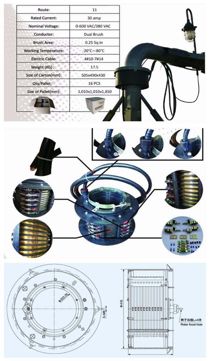 Electrical Slip Ring / Slip Rings for Center Pivot Irrigation System