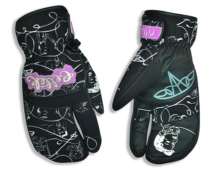 Expressive Printed Winter Waterproof Warm Adult Ski Gloves