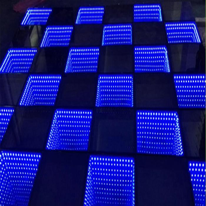 Party, DJ Lighting 3D Mirror Time Tunnel LED Dance Floor
