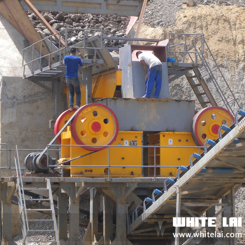 PE-500*750 Rock Stone Jaw Crusher with Single Toggle (PE-500X750)