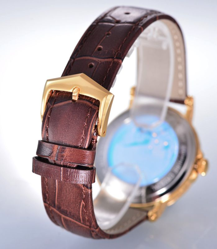 Manufacturer Men's Watch Mechanical Watch with Leather Watchband