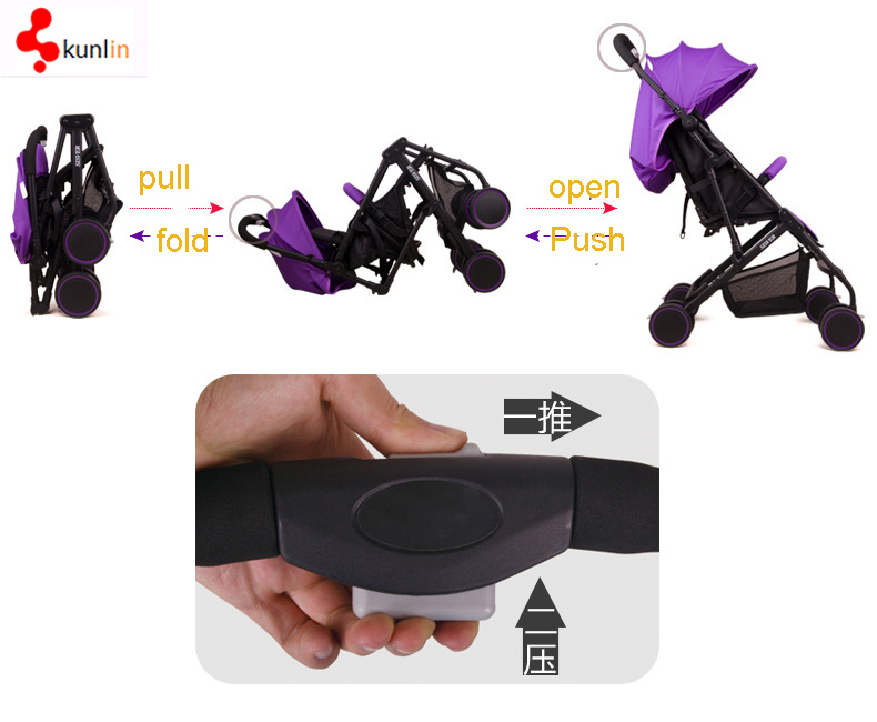 2017 Fashion Single Hand Folding Baby Stroller/Foldbale Baby Buggy Stroller/Baby Stroller Carriage