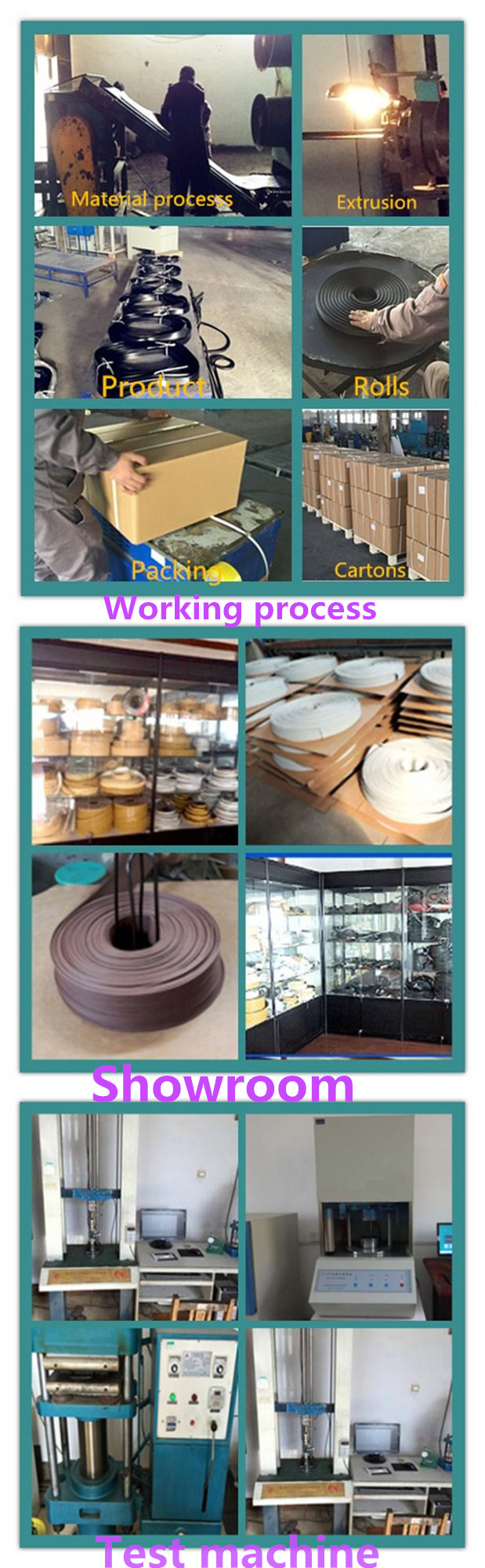 OEM Silicone Rubber Seal Strip for Electrical Equipment