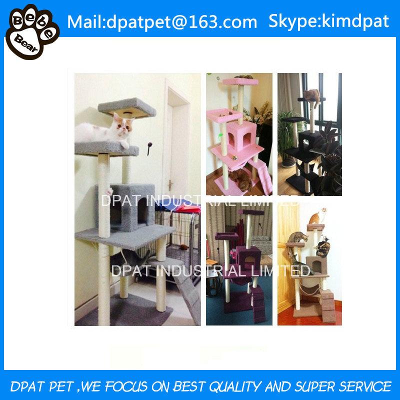Factory Wholesale Comfortable OEM Design Cat Tree Scratcher
