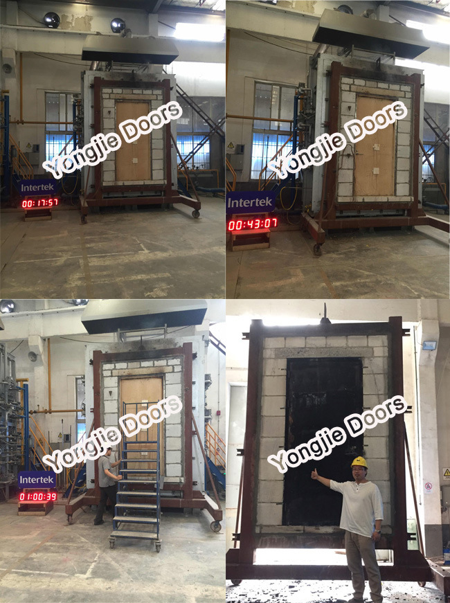 Wood Fire Exit Door with Glass with UL Ceritificate