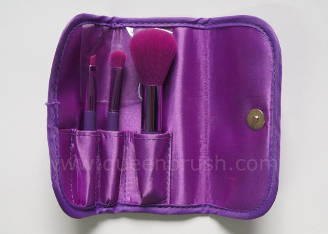 Beauty Cosmetics Nylon Hair Makeup Brush Set 3 Pieces