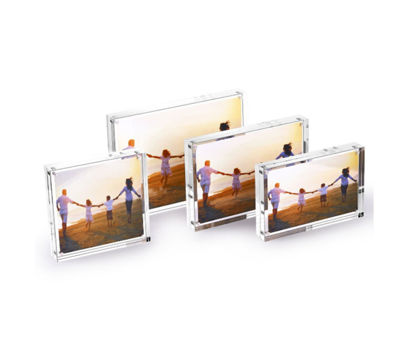 4X6 Inch Acrylic Vertical Magnet Photo Frame
