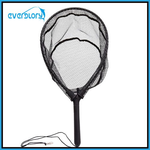 Rubber Coating Nylon Net Fly Fishing Net Landing Net Fly Tackle