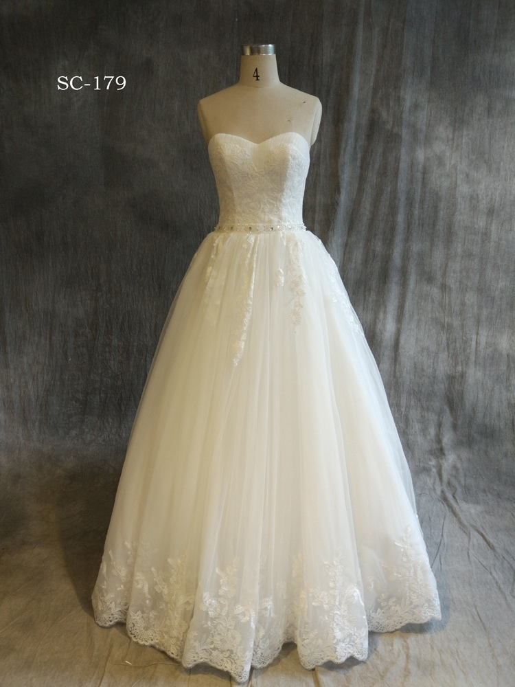 New Arrival Lace Fabric White Women Wedding Dress