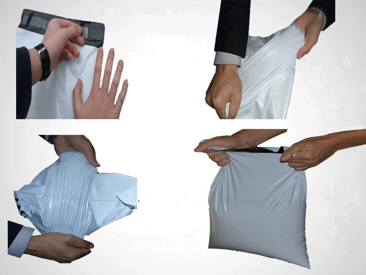 White Color T-Shirt Packing Bag with Adhesive Seal