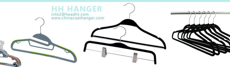 Metal Plastic 2.8mm Dia Plated Wire Laundry Clothes Hanger for Cloth