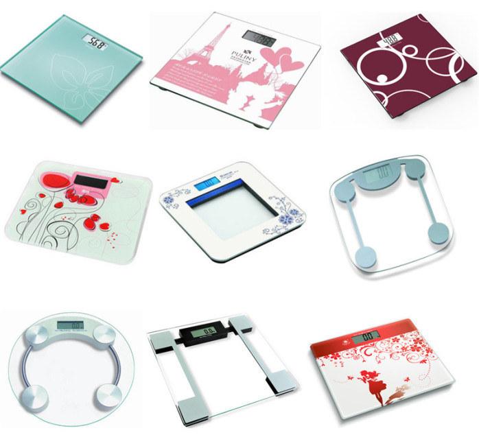 Body Analysis Bathroom Fat Health Scale Glass Platform Cover
