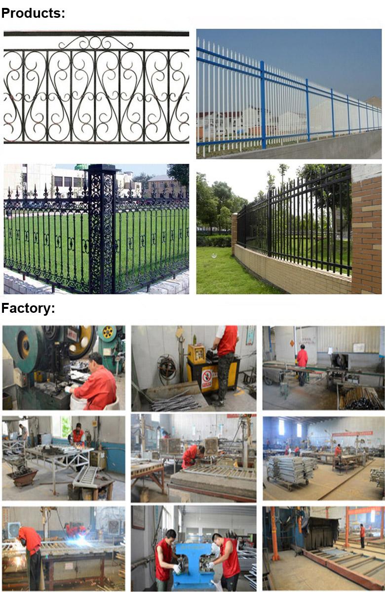 Powder Coated Decorative Wrought Iron Pool Fence