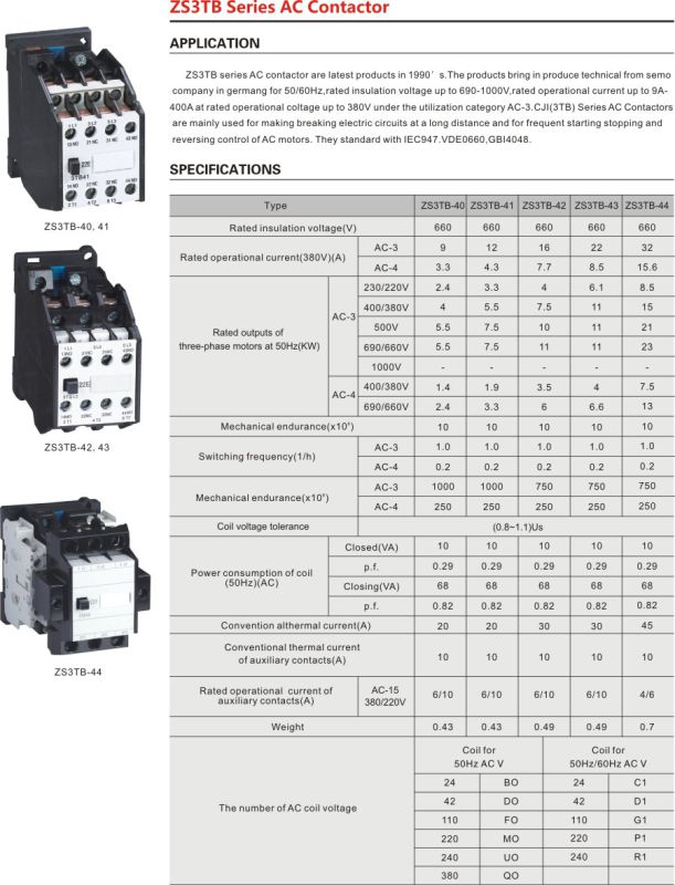 3 Pole 40A Cj20 AC Magnetic Contactor