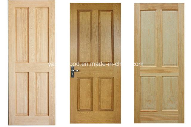Raised Panel Nature Wooden Door