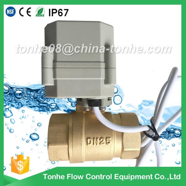 Dn25 2 Way 1 Inch Brass Cr2 01 DC12/24V Electric Ball Motorized Valve Controller