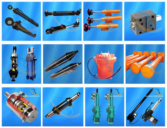 2 Stage Hydraulic Cylinder / Double Acting Telescoping Hydraulic Cylinder