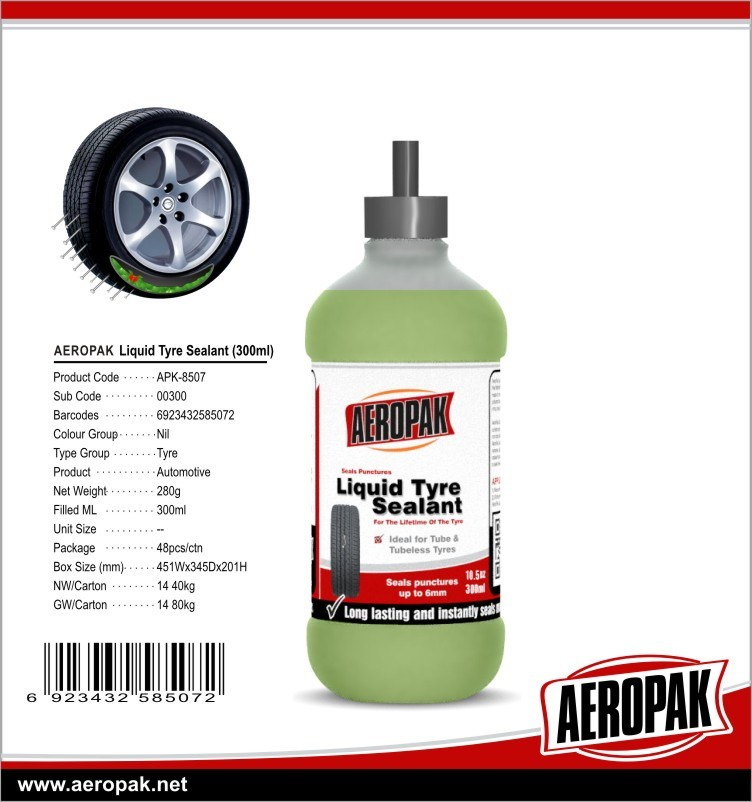 Magic Liquid Tyre Sealant, Tire Sealant, Tyre Puncture Sealant (APK-8508)