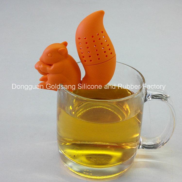 Promotional Gift Animal Silicone Tea Bag Squirrel Silicone Tea Strainer