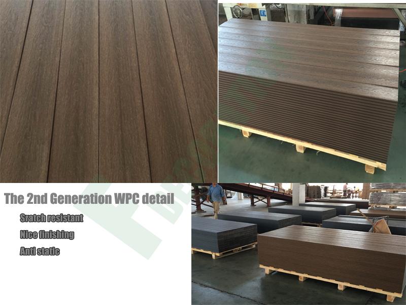 Wood Grain Waterproof Co-Extrusion WPC Composite Deck for Decorative