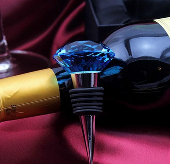 Crystal Glass Ball Wine Stopper with Logo