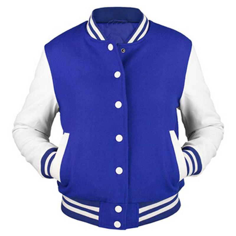 Custom Men's Cotton Hoodie Baseball Varsity Jacket in Different Colors