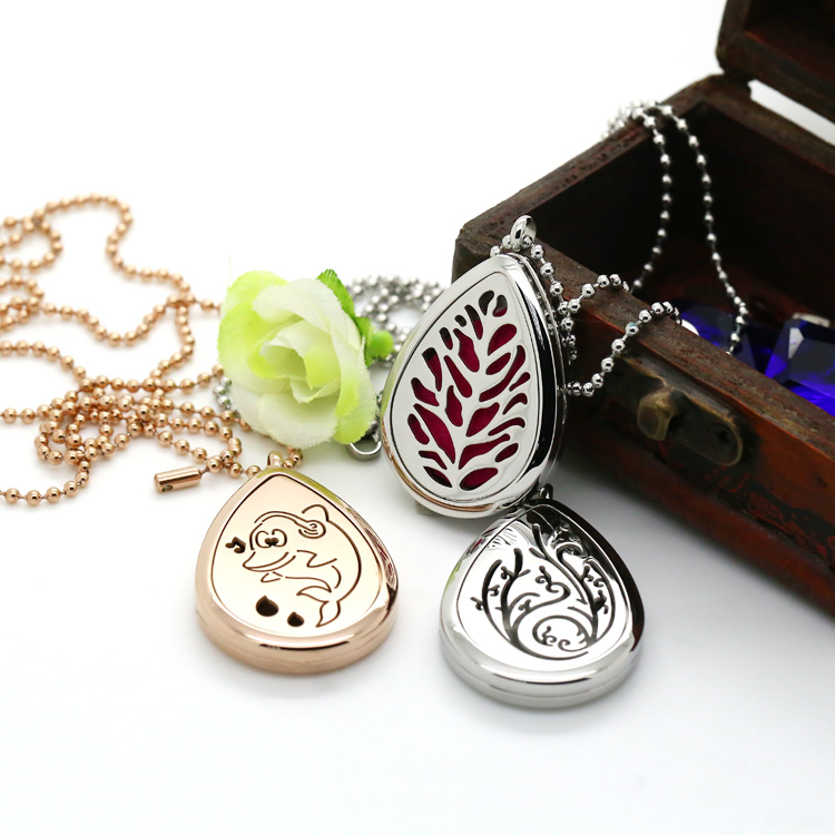 Customize Fashionable CZ Crystal Pendant Jewelry Perfume Diffuser Locket