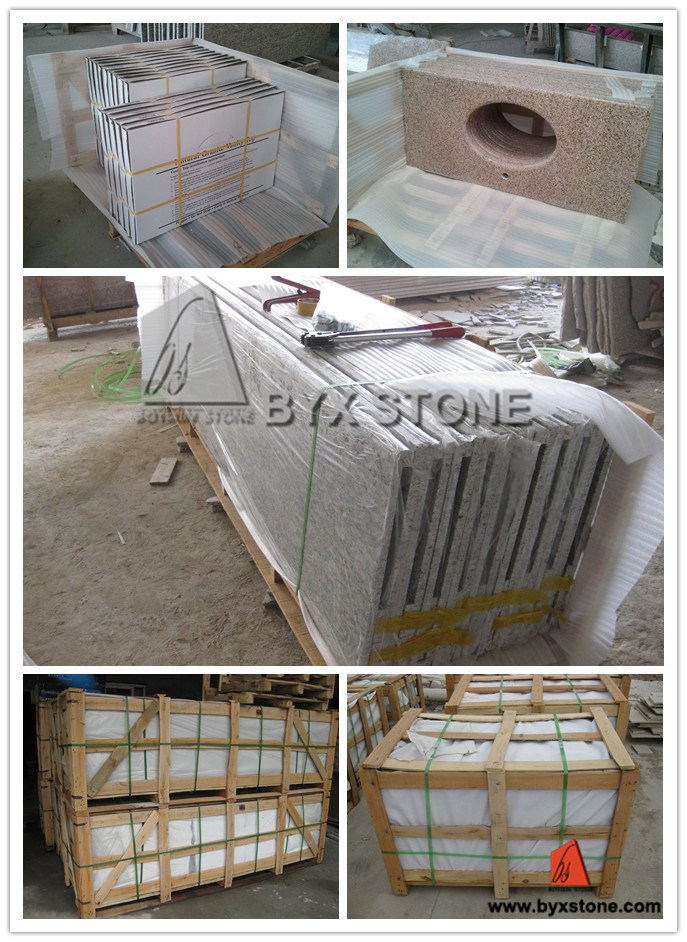 Black/Brown/Yellow/Golden/Beige/Green/Blue/Grey/White Natural Granite Countertops for Kitchen/ Bathroom Hotel Project