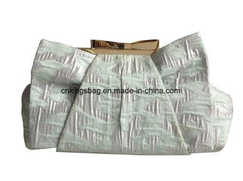 Metal Kiss Lock High Fashion Design Ladies Clutch Evening Bag