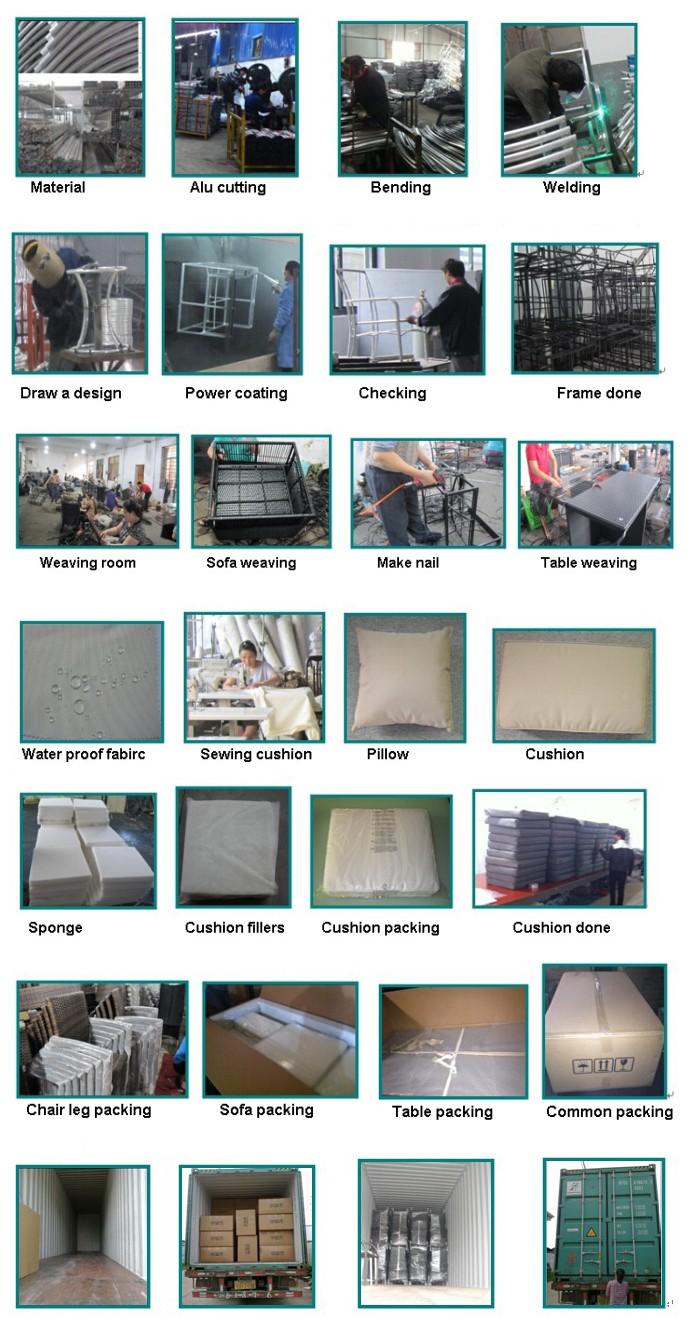 Lay Down Outdoor Rattan Garden Furniture (GN-9103-1S)