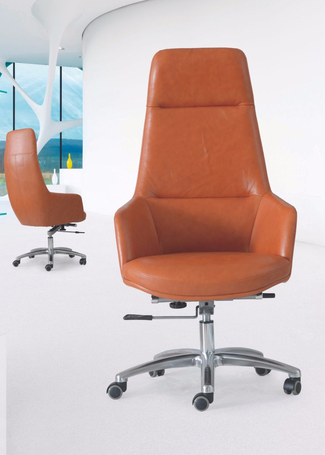 High-End Modern Comfortable PU High Back Reception Chair