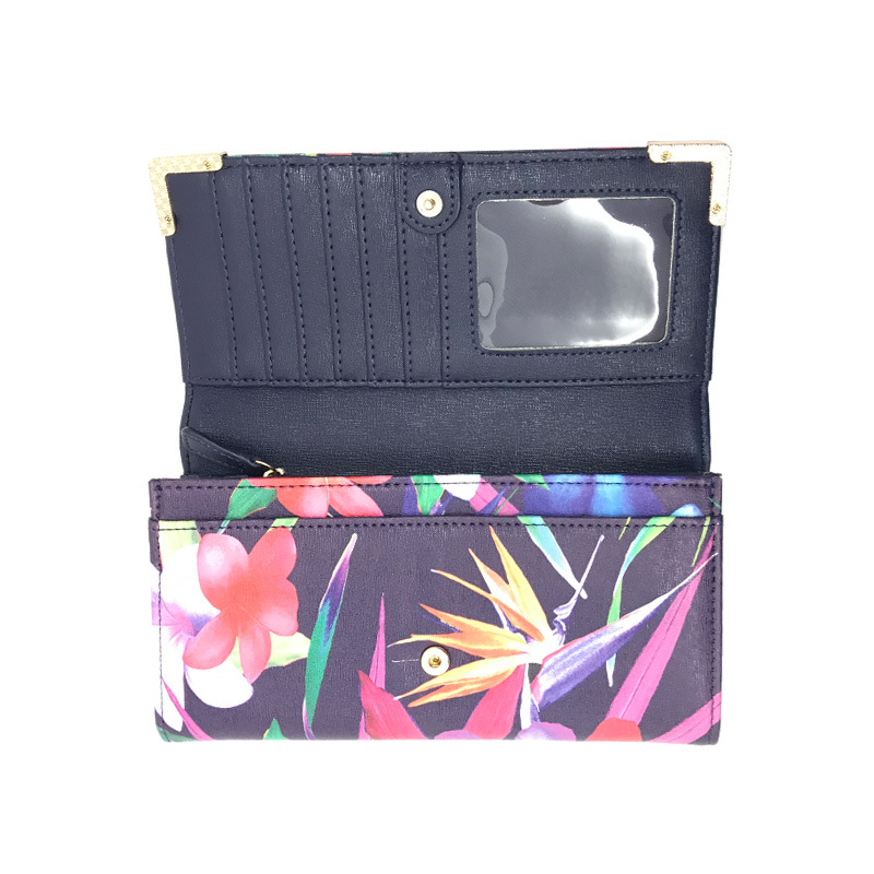 OEM/ODM Flowers Printing Customized Fashion Women Wallet