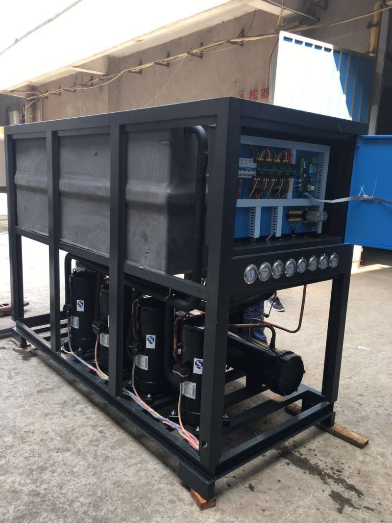 Plastic Industrial Chiller Screw Water Cooled Industrial Water Chiller