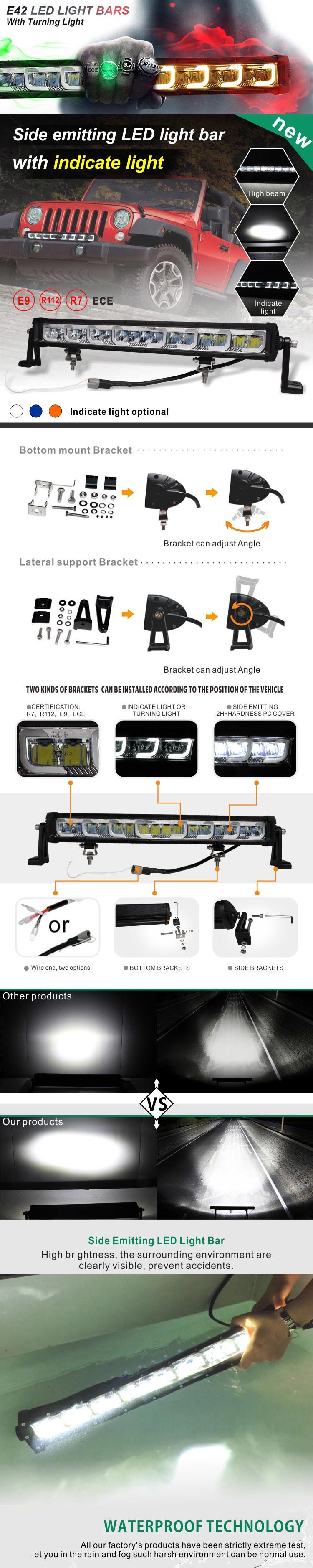 22inch Emark 4X4 off Road IP68 128W Single Row LED Light Bar