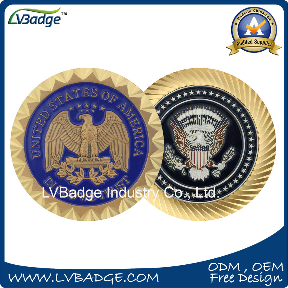 Metal Souvenir Challenge Coin with Special Edge