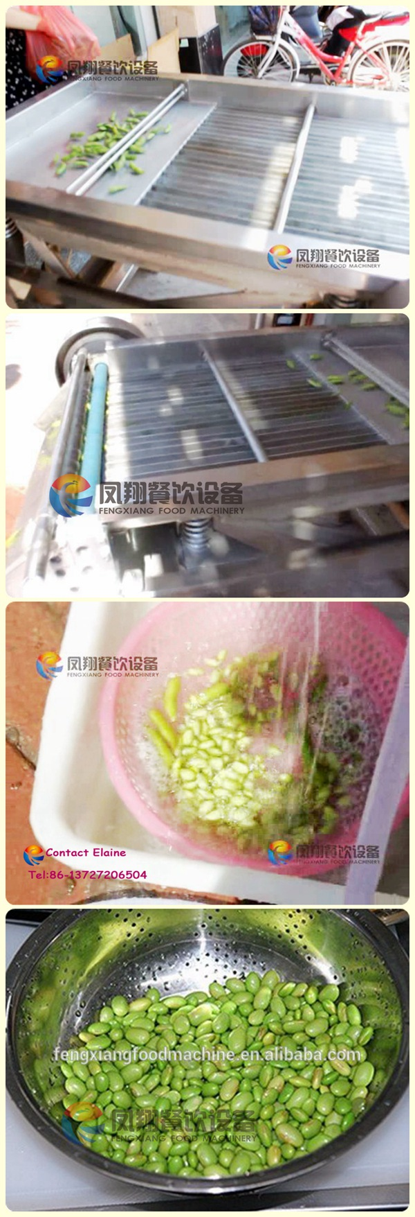 Industrial Automatic Machine Peeling Beans and Peas with Ce Certificated