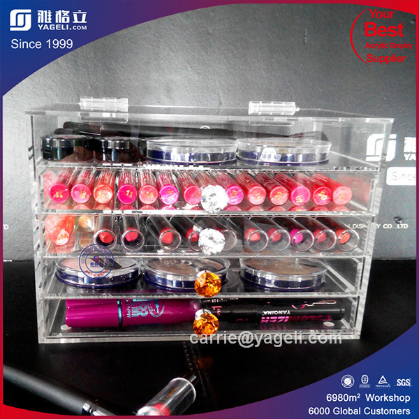 Manufacturer Customizer 3/4/5/6 Drawer Acrylic Makeup Organizer