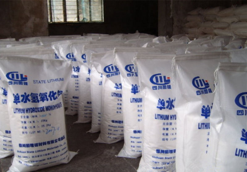 Industrial grade lithium hydroxide monohydrate 56.5%