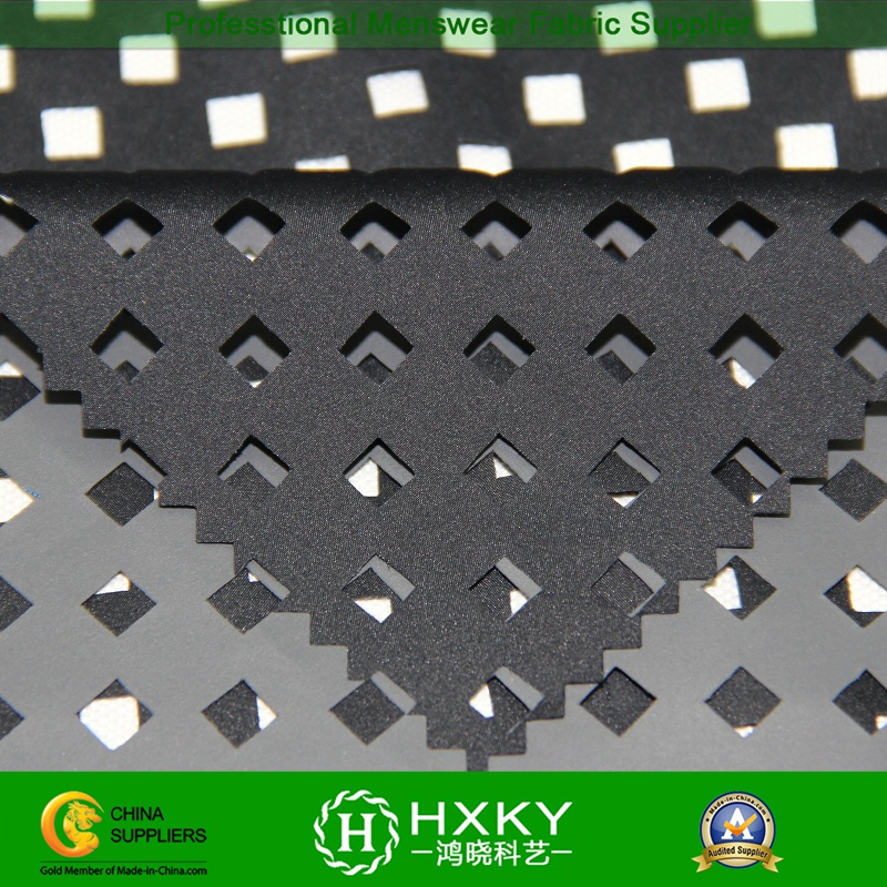 Coated Poly Pongee Fabric with Perforated Design