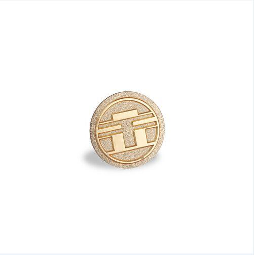 Round Golden Badge, Custom Organizational Lapel Pin (GZHY-LP-047)
